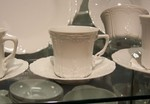 Hutschenreuther Baronesse White A.D. Cup & Saucer