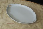 Hutschenreuther Baronesse White Oval Tray 10 inch