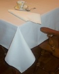 Cottunique Ivory Tablecloth 60x84 Made in USA