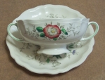 Royal Doulton Malvern 2 Cream Soup Cups & Saucers