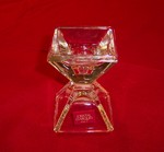 "Cristal D'Arques Pyramid 3"" Crystal Candle Holder"