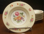 Rose China, Rimmed Soup Bowl, Occupied Japan