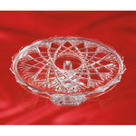 Walther Glass Pedestal Cake Plate, Large 14""
