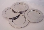 Silver-plated 6 inch set of 4 Bread Plates Trays