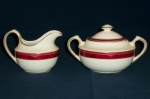 Spode Bordeaux Cream & Sugar Set