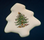 Spode Christmas Tree shape snack plate