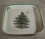 Spode Christmas Tree big square baker, England