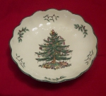 Spode Christmas Tree round fluted dish or bowl