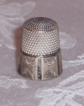 Simon Sterling Silver Thimble, marked