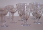 Tiffin Glass Starbright rock sharp cut crystal 8 stemware