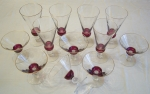 Tiffin Glass 1940 Dubonnet Ruby Stemware, 12 piece set