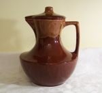 Watt Pottery brown with cinnamon drip Coffee Carafe & Lid