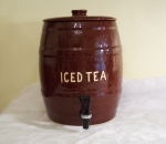 Watt Pottery Iced Tea Keg 2 gallon Chocolate Brown