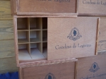 Wood Wine Crate Condesa de Leganza with bottle dividers