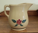 Watt Pottery Raised Rose or Pansy Milk Pitcher