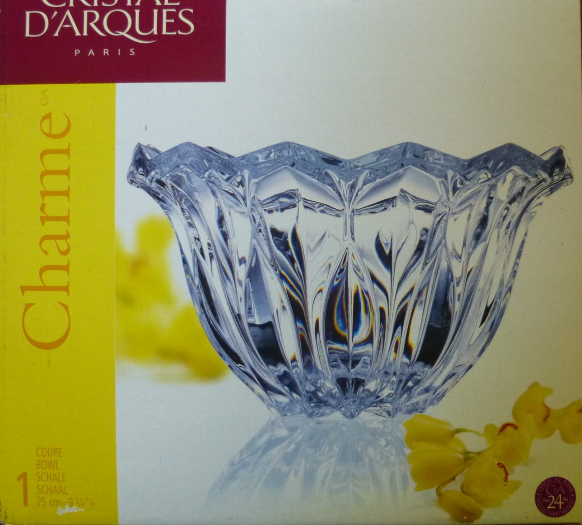 Cristal Darques France Genuine Lead Crystal Vase.Cristal D Arques Charme Fruit Bowl French Lead Crystal