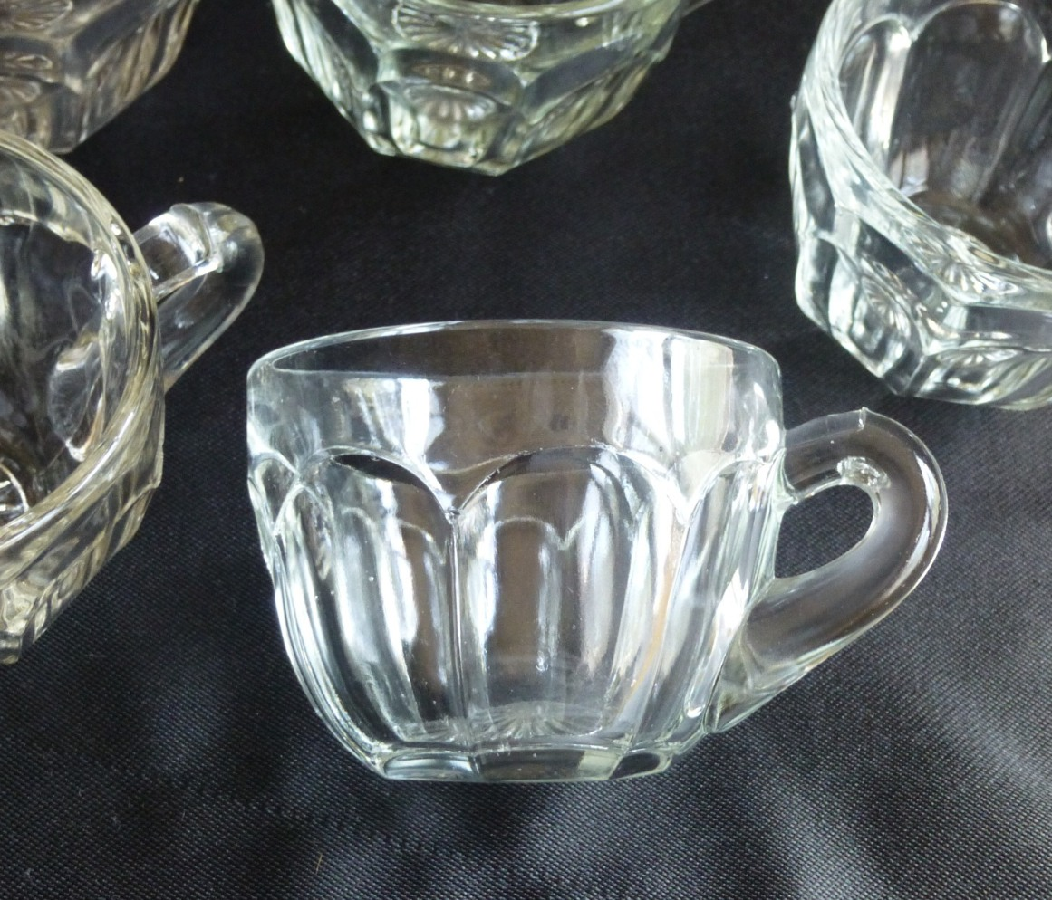 Hy 0003 Heisey Glass Punch Cups Set Of 5 Colonial Molded