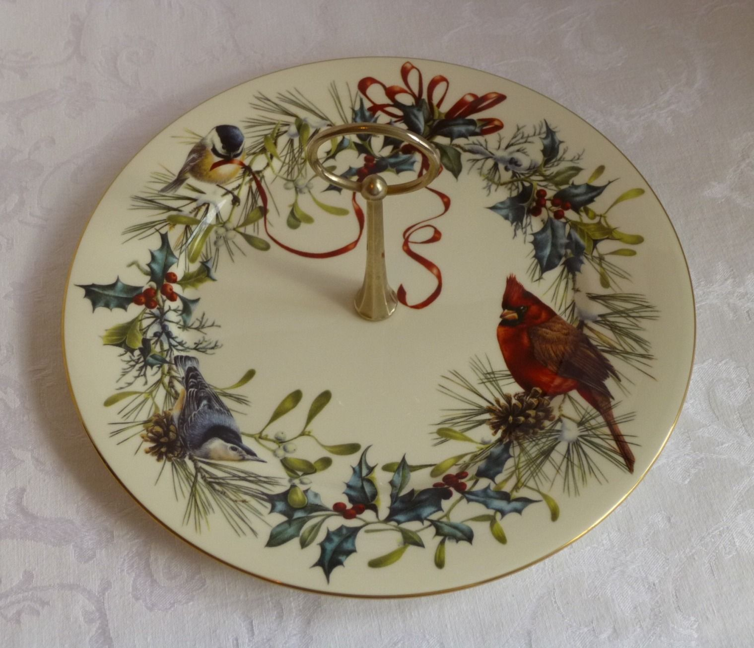 Lx 0005 lenox china winter greetings hors doeuvre serving plate lenox china zoom m4hsunfo