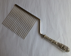 Silver Cake Break, Kirk repousse sterling handle, 1932