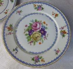 Rosenthal rose bouquet luncheon plates 6, vintage