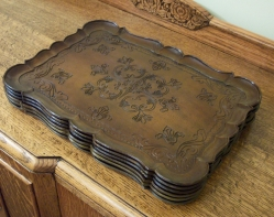 Serving Trays, Set of Six, vintage French Provincial