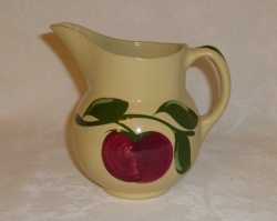 Watt Pottery Red Apple #15 Syrup Pitcher, 5 1/2 inch, 1950s